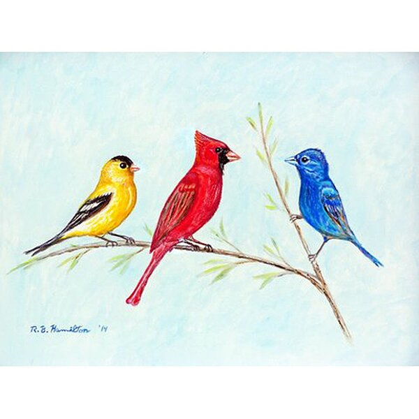 Three Birds Placemat (Set of 4) by Betsy Drake Interiors