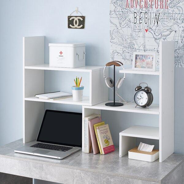 Review Aitan Yak About It Compact Adjustable Dorm Desk Standard Bookcase