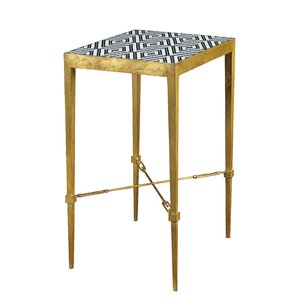 Diamond Micro Mosaic End Table by French Her..