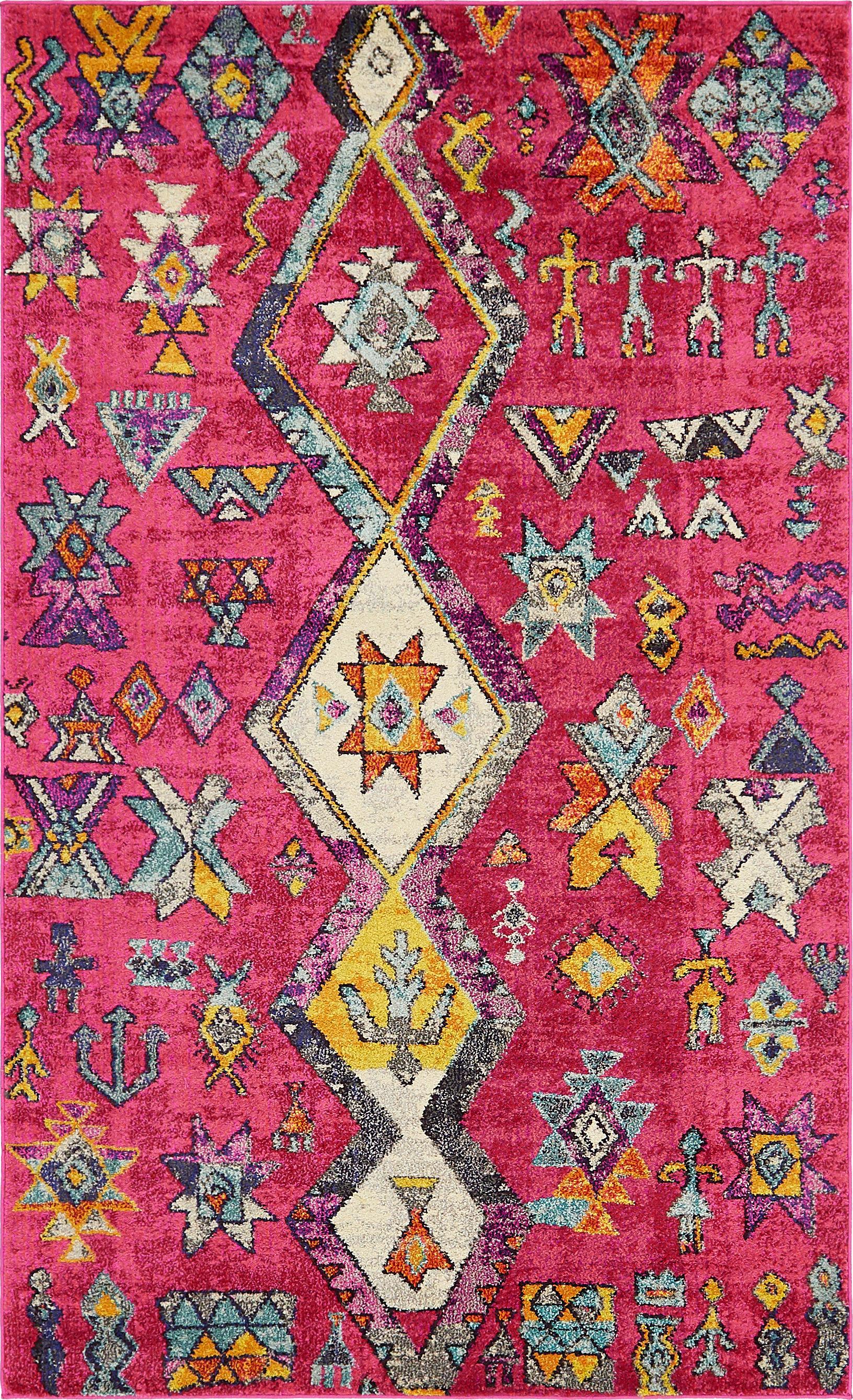 Bungalow Rose Ariyah Pink Area Rug & Reviews | Wayfair