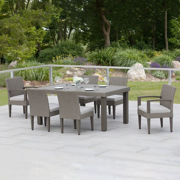 Oakland 7 Piece Dining Set with Cushions by Martha Stewart