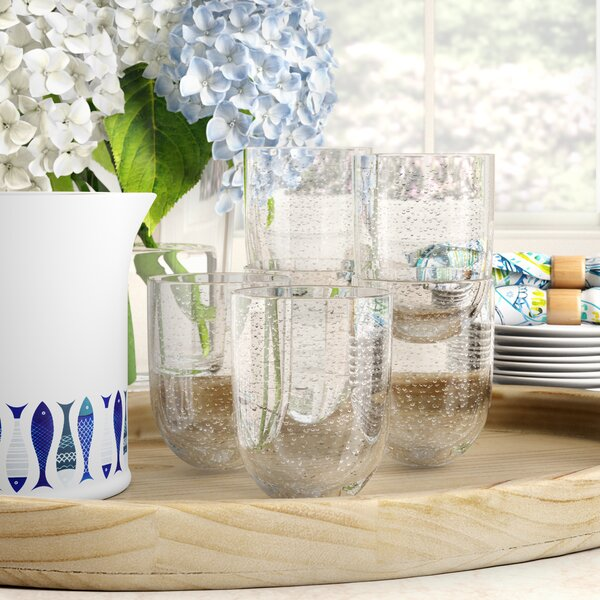 Fontaine Bubble Dof Mint 16 oz.Plastic Drinking Glass (Set of 6) by Highland Dunes