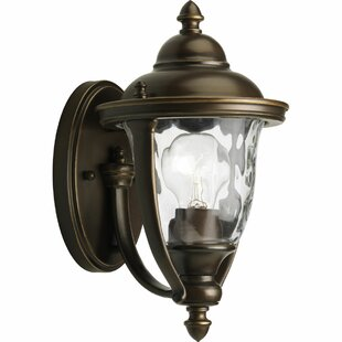 Savings Triplehorn 1-Light Bronze Sconce By Alcott Hill