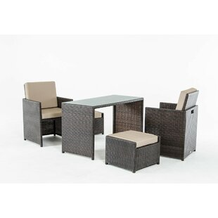 Amaia 5 Piece Dining Set with Cushions By Gracie Oaks