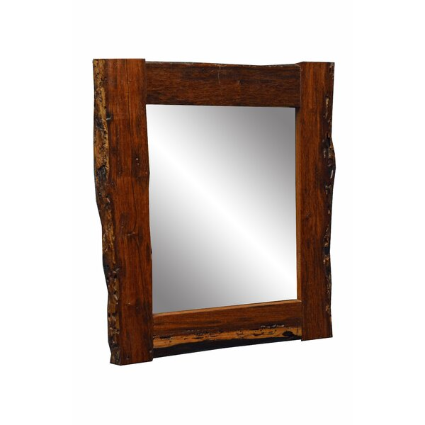 Oldbury Naite Aged Wood Small Medium Accent Mirror by Loon Peak