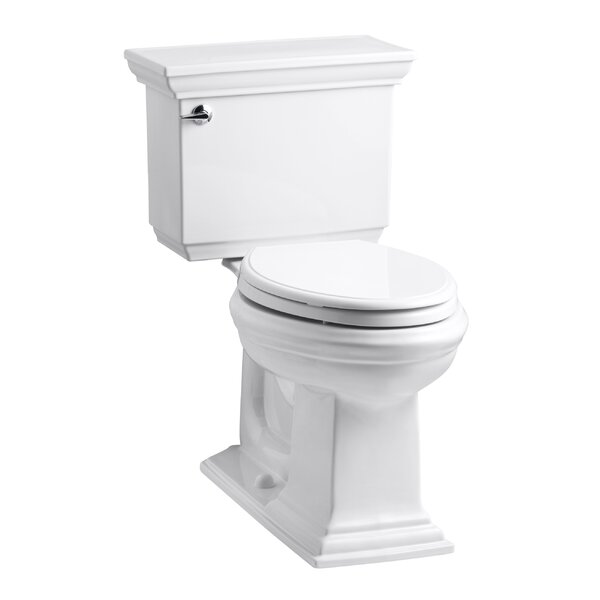 Memoirs Stately Comfort Height Two-Piece Elongated 1.6 GPF Toilet with Aquapiston Flush Technology and Left-Hand Trip Lever by Kohler
