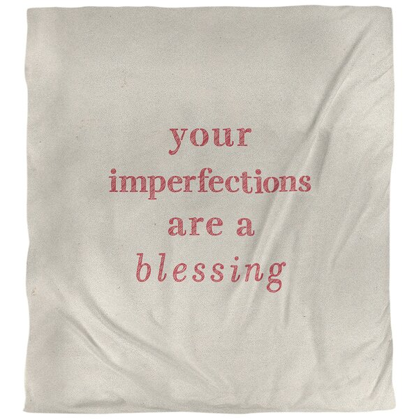 Quotes Handwritten Imperfections Inspirational Single Reversible Duvet Cover