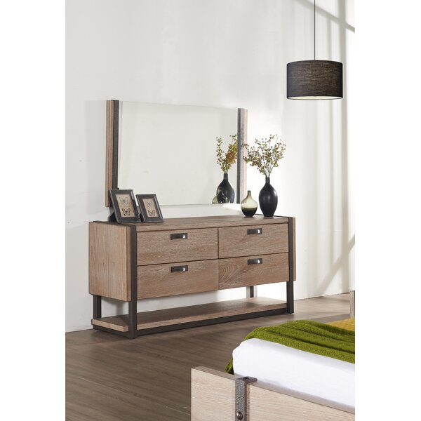 Dominey 4 Drawer Double Dresser by Gracie Oaks