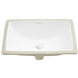 Plaisir® Ceramic Rectangular Undermount Bathroom Sink with Overflow By Swiss Madison