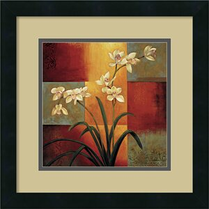 'White Orchid' by Jill Deveraux Framed Painting Print by Amanti Art