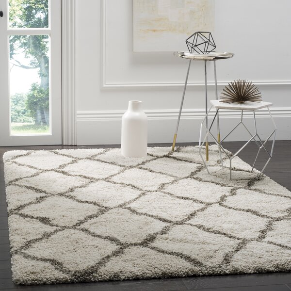 Buford Ivory/Gray Area Rug by Charlton Home