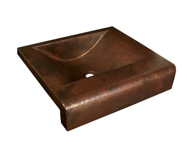 Copper Bathroom Sinks Metal Rectangular Drop-In Bathroom Sink by Native Trails, Inc.