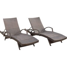 Richford Adjustable Wicker Chaise Lounge (Set of 2)