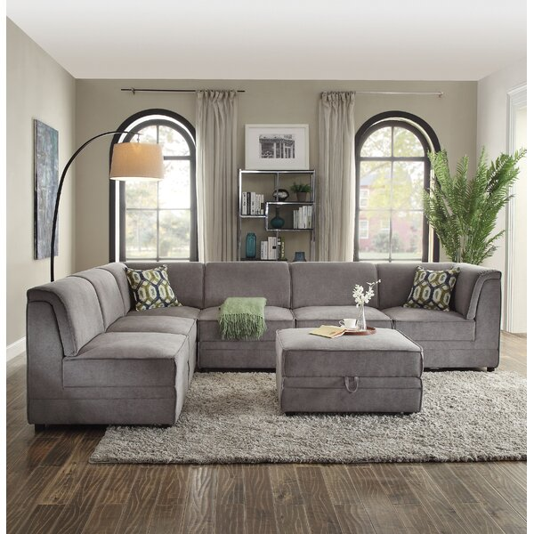 Mahler Right Hand Facing Modular Sectional with Ottoman by Latitude Run