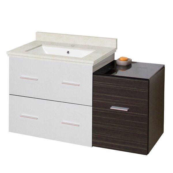 Kyra Modern 38 Rectangle Glazed Single Bathroom Vanity Set by Orren Ellis