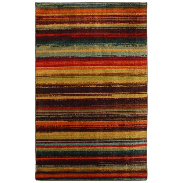 Ayers Village Brown/Yellow Area Rug by Red Barrel Studio