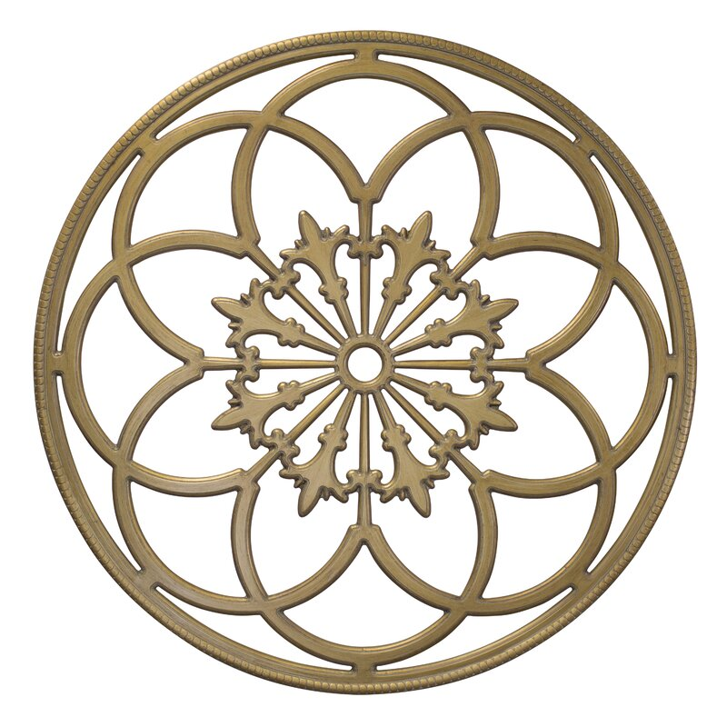 Wood Medallion Wall Decor kate and laurel kate and laurel ondelette round medallion wood