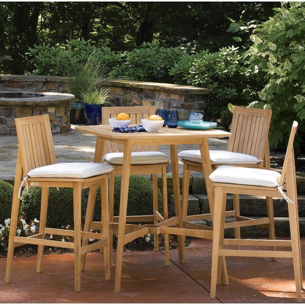 Kentmere 5 Piece Dining Set with Cushions by Bay Isle Home