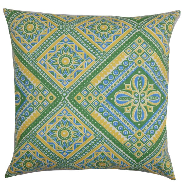 Delancy Geometric Outdoor Throw Pillow by Bloomsbury Market