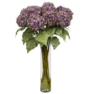 Hydrangea Silk Flower Arrangement in Purple