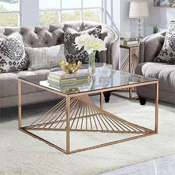 Sizer Metal Framed Coffee Table By Orren Ellis
