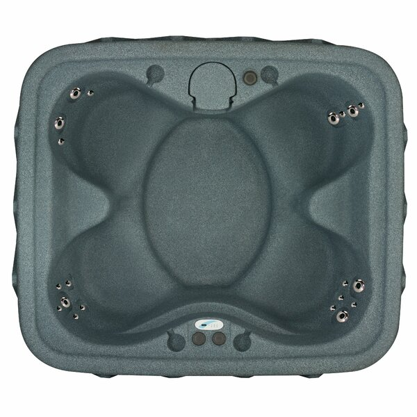 Premium 400 4-Person Plug and Play with 20 Stainless Jets, Heater, Ozone and LED Waterfall by AquaRest Spas