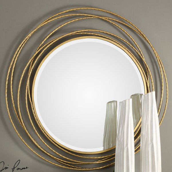 Thanos Whirlwind Round Accent Mirror by House of Hampton