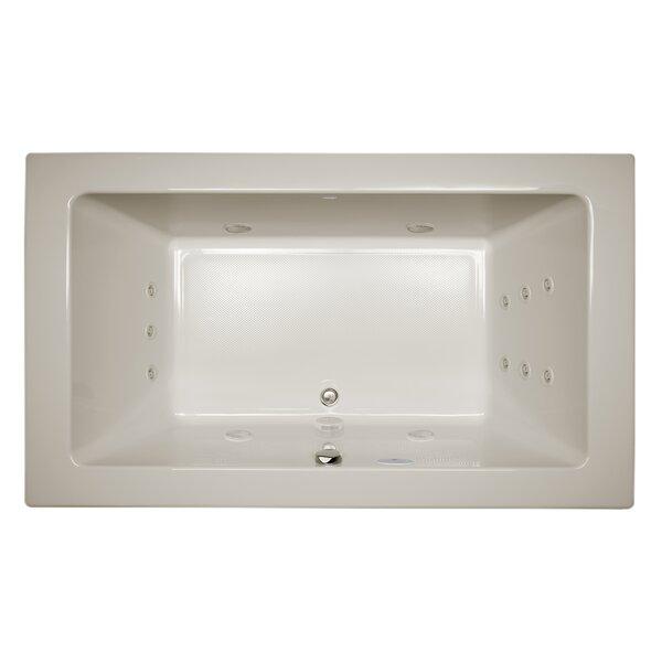 Sia Chroma Right-Hand 72 L x 42 W Drop In Whirlpool Bathtub by Jacuzzi®