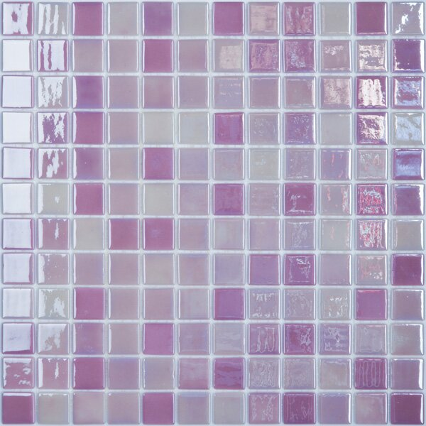 Lux Eco 12.375 W x 12.375 L Glass Mosaic in Pink Passion by Kellani