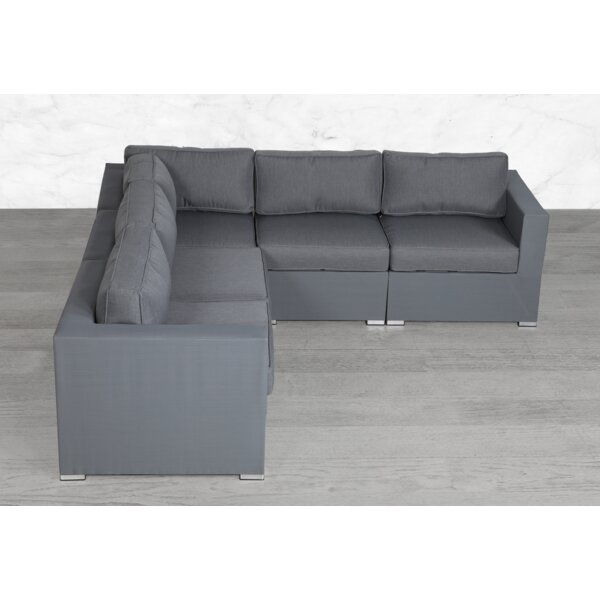 Fritts Modular 5 Piece Sectional Seating Group with Cushions by Orren Ellis Orren Ellis