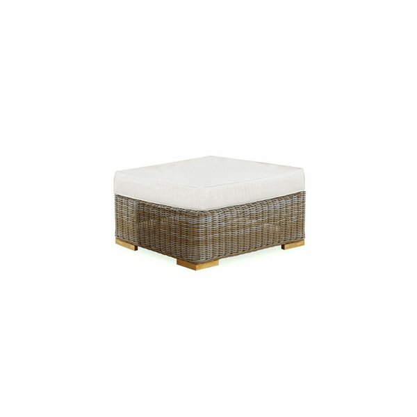 Brianna Deep Seating Outdoor Ottoman with Cushion by Rosecliff Heights