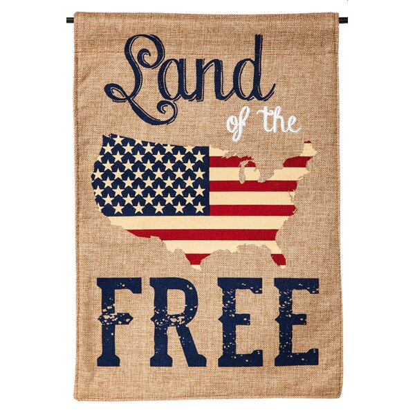 Land of the Free Garden Flag by Evergreen Enterprises, Inc