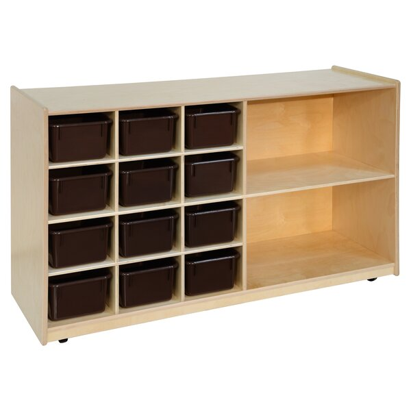 Storage 12 Compartment Cubby with Trays by Wood Designs