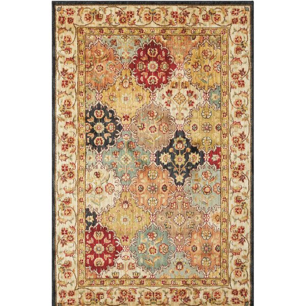 Ancient Times Gold/Taupe Area Rug by Kathy Ireland Home