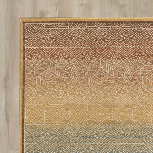 Higa Gold Area Rug by World Menagerie