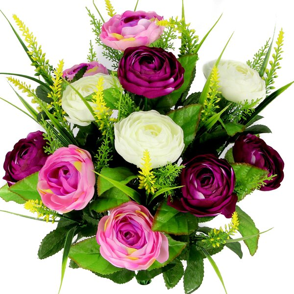 Artificial Ranunculus and Fillers Mixed Flowers Bu