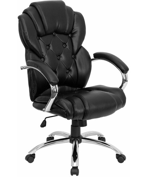 Kropp High-Back Button Tufted Ergonomic Executive Chair by Symple Stuff