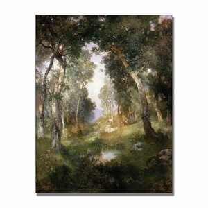 Forest Glade Santa Barbara by Thomas Moran Painting Print on Canvas by Trademark Fine Art