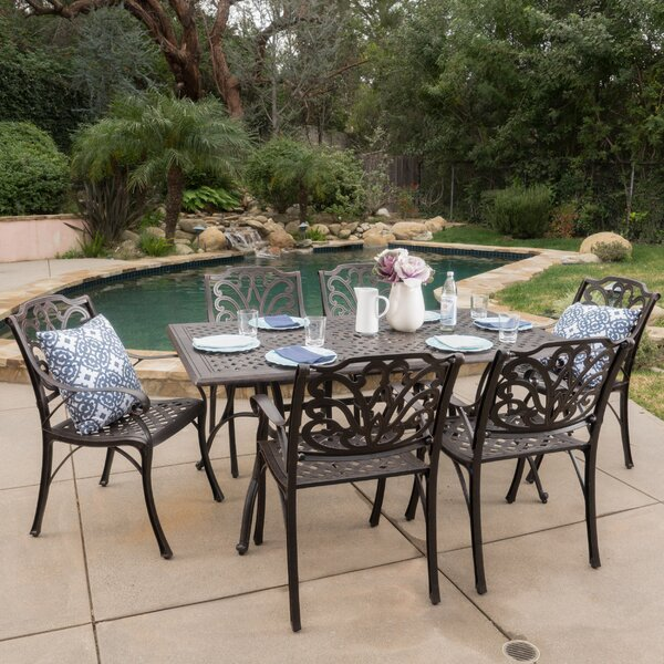 Finlayson 7 Piece Outdoor Dining Set by Three Posts