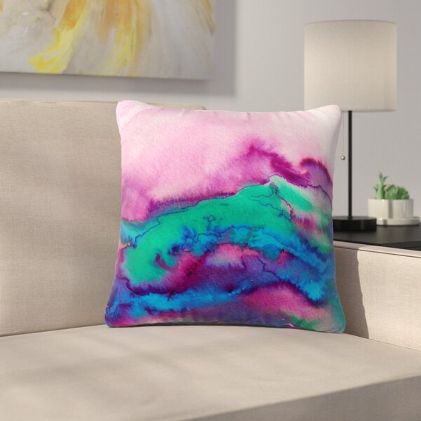 Ebi Emporium Winter Waves 2 Watercolor Outdoor Throw Pillow by East Urban Home