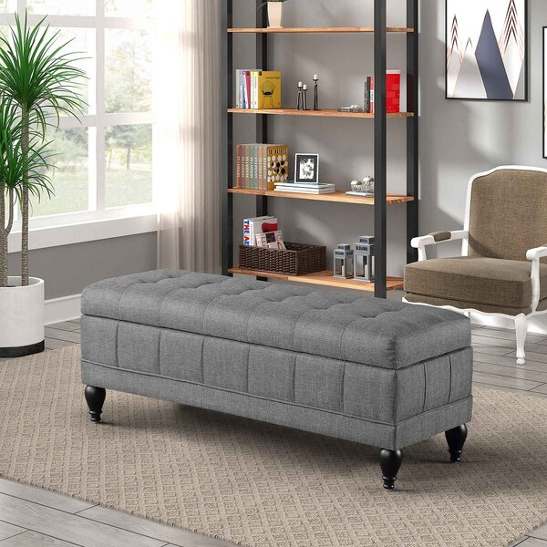 Bigley Upholstered Flip Top Storage Bench by Alcott Hill