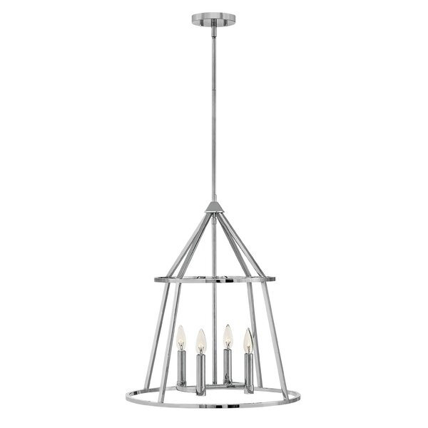 Balbuena 4 - Light Lantern Geometric Chandelier By Wade Logan
