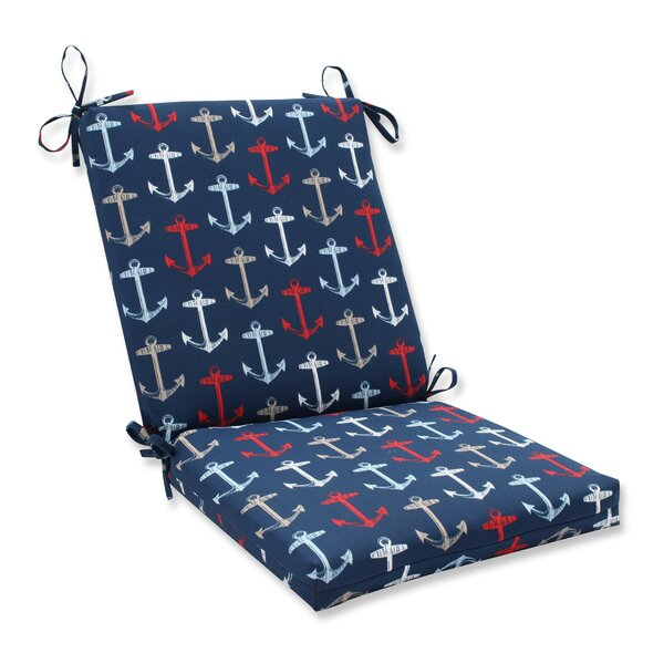 Anchor Allover Indoor/Outdoor Dining Chair Cushion by Pillow Perfect