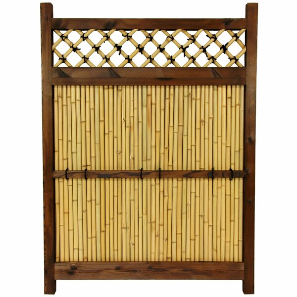 4 ft. H x 3 ft. W Japanese Zen Garden Fence Panel by Oriental Furniture