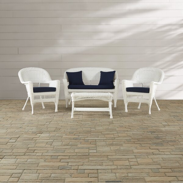 Cecilton 4 Piece Sofa Set with Cushions by August Grove