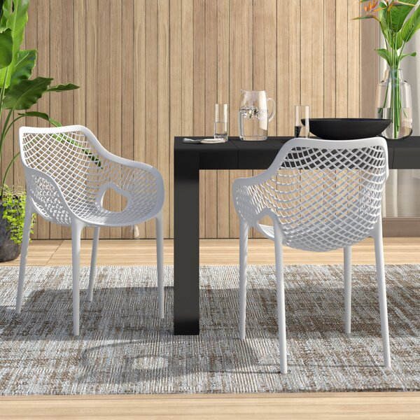 Ravensdale Stacking Patio Dining Chair (Set Of 2) By Ebern Designs