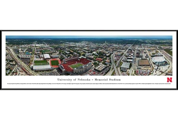 NCAA Nebraska, University of - Aerial by James Blakeway Framed Photographic Print by Blakeway Worldwide Panoramas, Inc