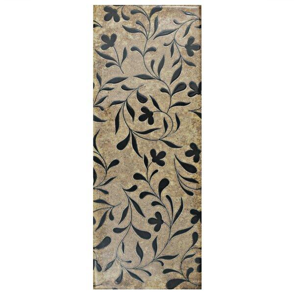 Byth 5.88 x 15.75 Ceramic Field Tile in Brown/Black by EliteTile