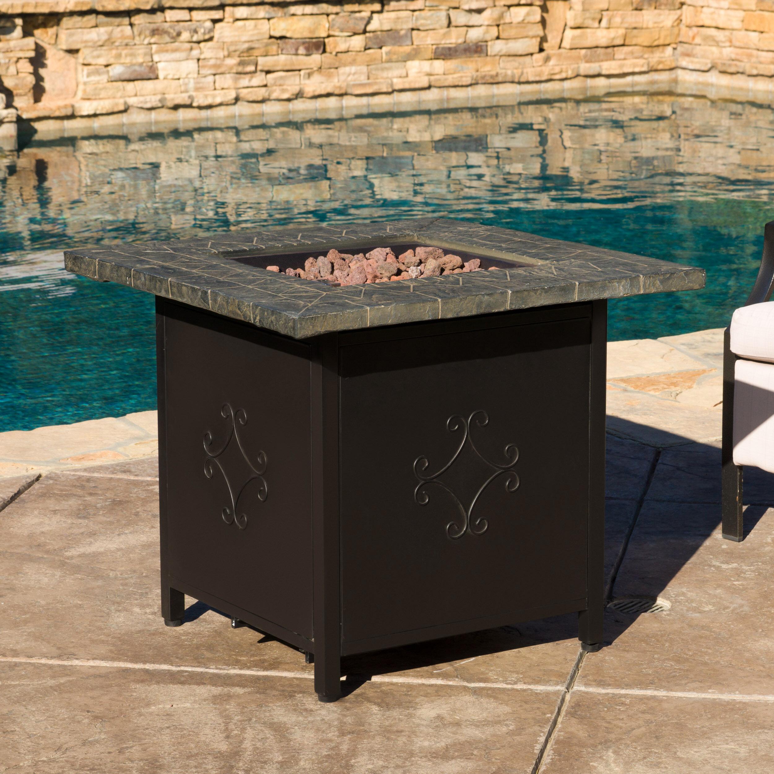 home loft concepts rios cast iron propane fire pit table reviews