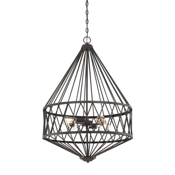 Clemence 4 - Light Unique / Statement Geometric Chandelier by Williston Forge Williston Forge